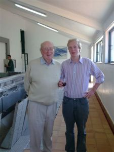 Ian Symington and his grandson Patrick Hall