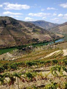 Malvedos seen from Valdossa - Notice how green river