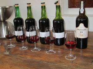 10 Year Old Tawny and its 4 component wines