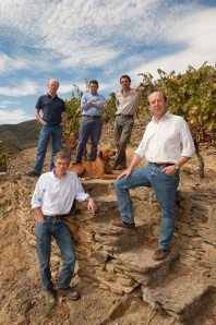 Paul (lower left) with his brother (directly behind) and his cousins at Graham's Quinta dos Malvedos