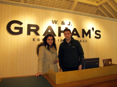 Ana and Hermínio in the new reception area, eagerly awaiting their first visitors.
