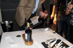 Euan Mackay pours Graham's 20 Years Tawny from a Jeroboam (4.5 litre) bottle