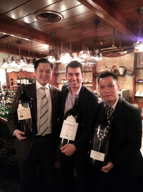 Jorge Nunes, Graham's Asia Pacific Market Manager. To his right, Dave Huang, President of our Taiwan importer: St Finesse.