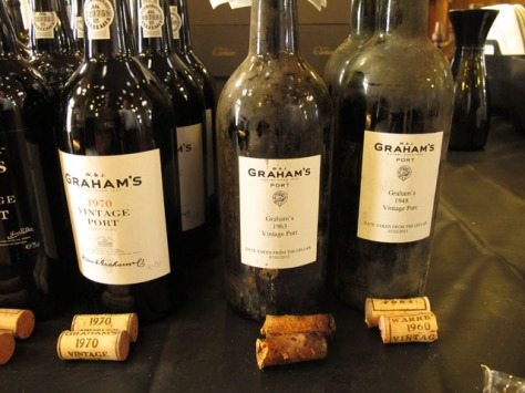 The trio of Graham's Vintage Ports tasted; they provided the tasters with a memorable experience.