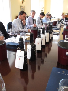 The line up of component wines which comprise the Graham's 2011 Vintage Port blend.