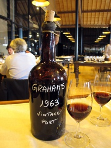 What better way to end a fabulous meal than with two magnums of Graham's superb 1963...