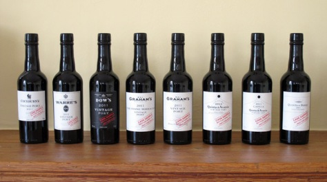 The line-up of 2011 Vintage Ports made by the Symington family