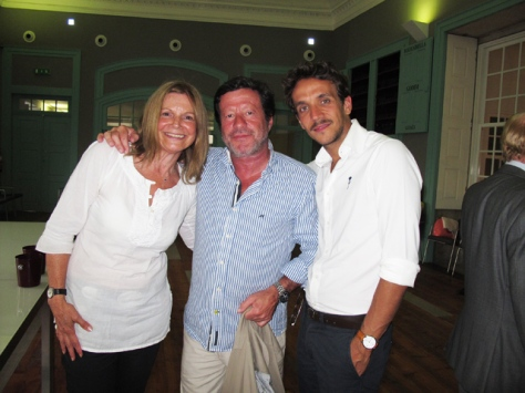 Jackie Dias, Graham's PR & Events Manager, with actor Joaquim de Almeida and film director, Ruben Alves.