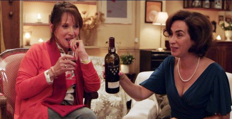 Rita Blanco, in the role of Maria, pours her guest a glass of Graham's Six Grapes.