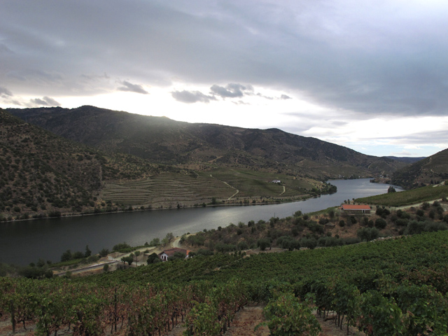 Rain clouds drift menacingly towards Quinta do Vale de Malhadas, early Friday morning.
