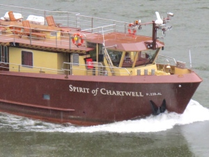 The Spirit of Chartwell cruises along the Douro, just below Malvedos, Tuesday, October 1st.