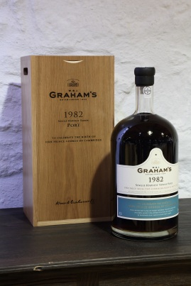 Lot Nº1: the nº1 Jeroboam of Graham's 1982 Tawny Port.