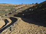 The terraces lower down, closer to the Sibio stream will take two to three rows of Sousão and Toriga Franca vines.