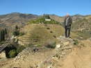 Alexandre Mariz surveys the section of dry stone terraces that are being reconstructed at Malvedos.