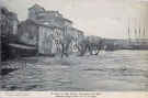 The Douro floodwaters invade the lower sections of Vila Nova de Gaia, where many Port lodges were seriously damaged.