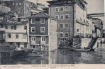 Buildings alongside the banks of the Douro in Porto suffer from the effects of the flooding during December 1909.