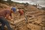 Skilled Douro Stonemasons individually shape each stone to build the dry-stone terrace walls.