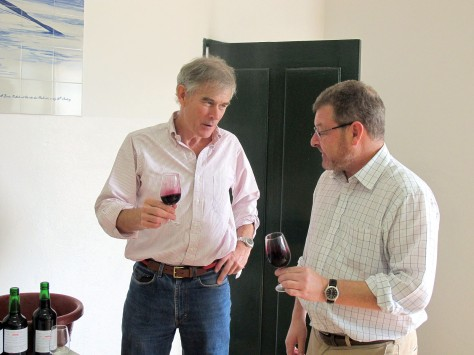 Paul and Henry taste the superb Touriga Nacional - Sousão co-fermented wine.