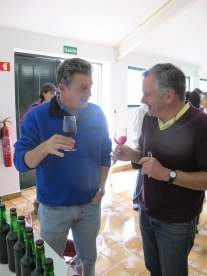 Rupert (left) and Peter Scott of PPW from the US taste the wines at Malvedos.